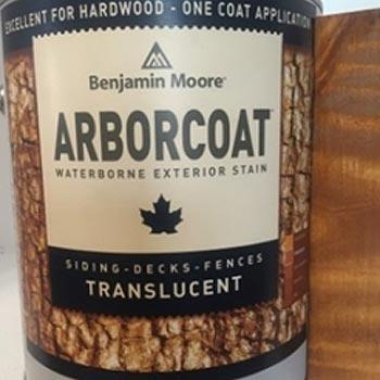 benajmin moore arborcoat tinta para madera Teca polyrec
