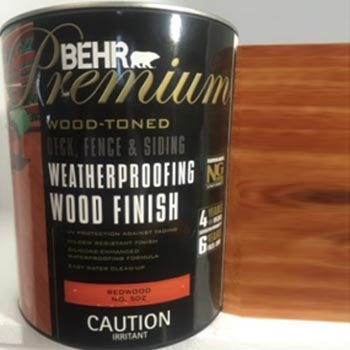 Acabado madera base agua Behr polyrec